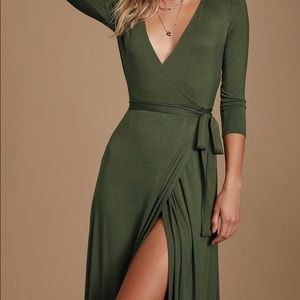 LuLu's wrap dress, brand new never worn. XS